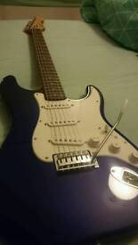 Fender squire blue stratocaster electric guitar