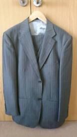 Mens 3 Peice, Grey pinstripe suit.