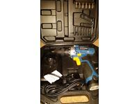 10.8v li-on drill driver and 12v drill driver with cases, batteries and chargers..vgc