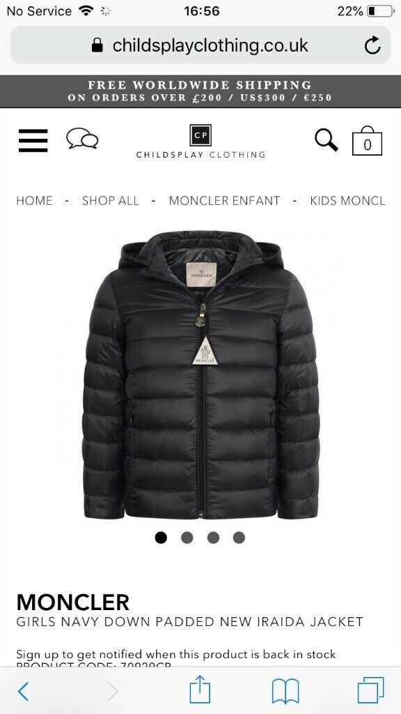 7332cdb0c moncler girls coat age 4 years | in Newcastle, Tyne and Wear | Gumtree