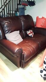 leather recliner 2 seater sofa FREE TO COLLECTOR