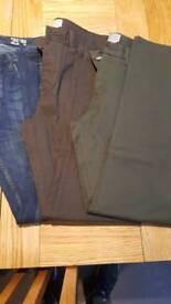"Job lot men's 32"" waist 32""leg trousers and jeans"