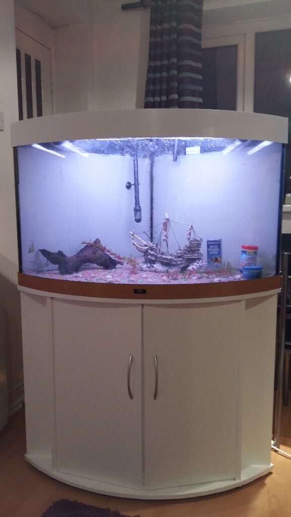 190 LITER JUWEL CORNER FISH TANK FOR SALE,,FULL SET UP ...