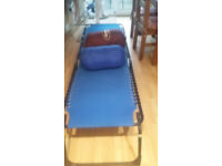 Camp bed/Sun lounger and 2 sleeping bags