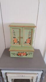 Unusual Jewellery / trinket box, beautifully hand painted