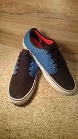 Black and Blue Vans UK Size 11.5