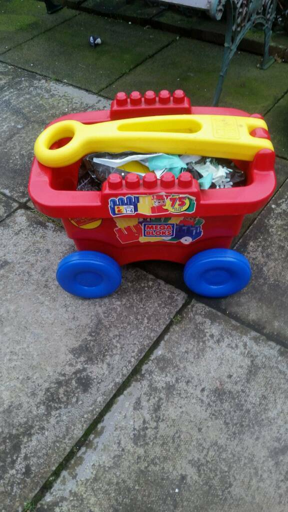 Kids mega blocks in trailer good condition