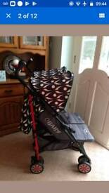 Obaby leto double buggy pushchair pram used