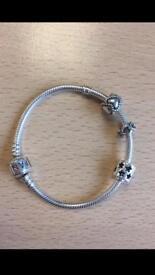 Small pandora bracelet and charms