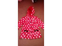 Girls minnie mouse lined raincoat age 6-7