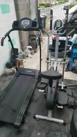 Treadmill and Elliptical Cross Trainer
