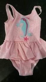 Baby girls swimming costume 12-18mths
