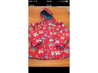 Baby girls coat Age 1- 18 mths beautiful coat