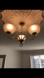 Ceiling Light & 2 Touch Lamps