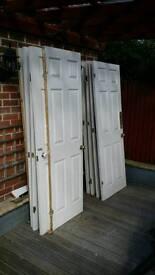 Set of 9 white internal doors