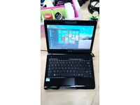 Toshiba Satellite Laptop, 160gb HD, Windows 10, MS Works, Webcam, Wifi, Bluetooth, Charger