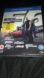 fast and furious 1-6 blue ray new