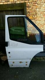 Ford Transit 2011 front driver side Door OS white