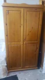 2 door wooden robe. Only £50. NEW