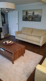 COPENHAGAN 4 SEATER + 3 SEATER SOFA FROM FURNITURE VILLAGE EXCELLENT CONDITION
