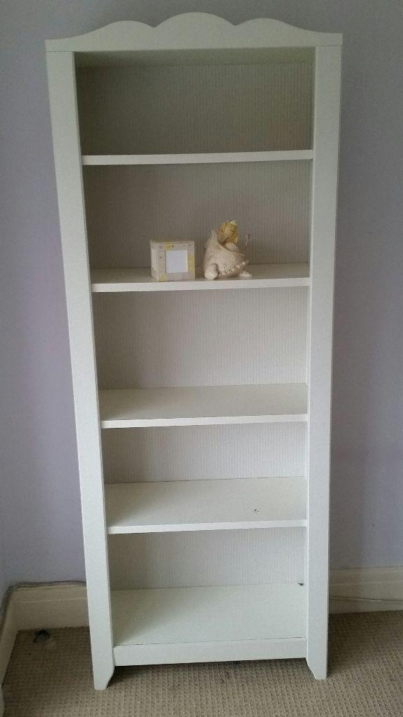 Lovely Ikea White Girls Bookshelf With Matching Wall Storage Shelf Unit