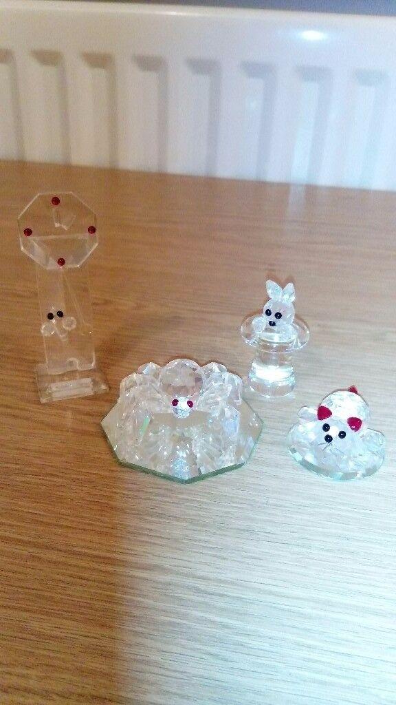 Crystal glass ornaments