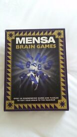 MENSA Brain Games interactive book and pack with over 100 ways to have fun