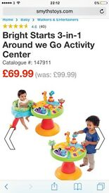 Bright stars 3 in one activity centre and walker