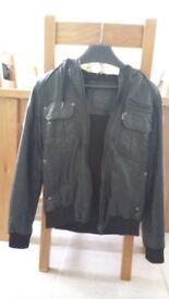 Burton faux leather bomber jacket xs
