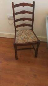 Solid hardwood dining chairs