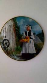 Welsh lady round. Glass. Picture