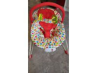 Red Kite musical vibrating bouncer seat, suitable birth to 6 months