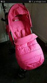 Pink stroller inc cozy toes