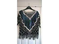 very fansy silk detailed top 12-16