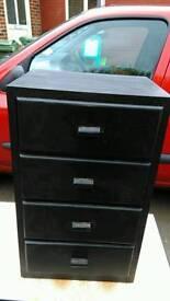 Wooden 4 drawer chest