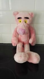 Pink Panther soft toy.