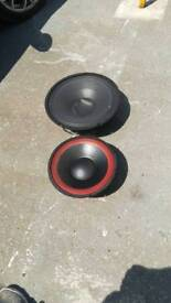 2 PA speakers, one 12inch, one 15inch, untested