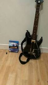 Guitar Hero Live Ps4 with 6 button guitar and usb dongle