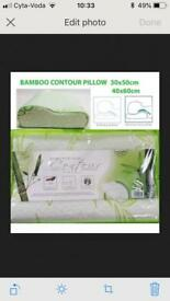 contour Bamboo memory foam Orthopaedic Pillow For Neck Back Support