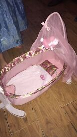 Baby Annabelle rocking crib was £75 and baby Annabelle learn to walk and crawl was £50
