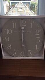 Large grey clock