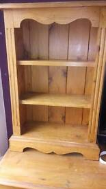 Solid wood, good condition small shelving