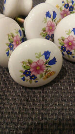 Knobs with screws (vintage floral, crystal, pine) shabby chic