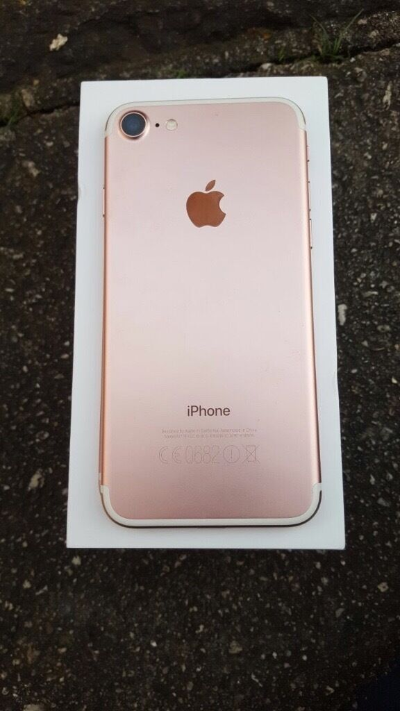 iPhone 7 32gb rose gold 6 days old A condition no marks or scratches EEin Exeter, DevonGumtree - iPhone 7 rose gold 32gb 6 days old no scratches or marks A condition selling as going back to the iPhone 6. Comes with Box brand headphones sealed with adapter locked to EE network. Currently shopping in Exeter so can meet in Exeter town central. Non...