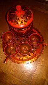 Russian ornamental serving set