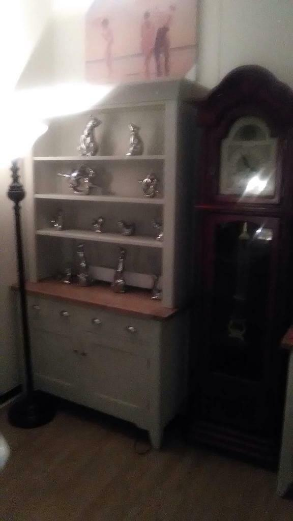 Cream and oak dresser