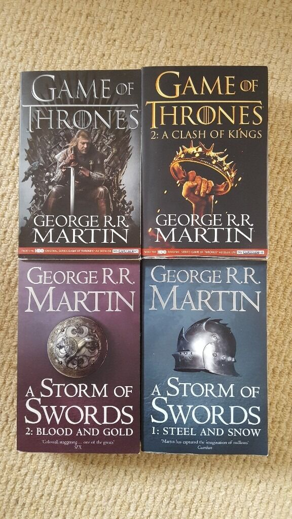 Game of Thrones / A Storm of Swords 4 book bundle