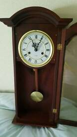 Mahogany coloured pendulum wall clock