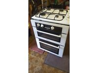 Hotpoint BU71 double oven/grill & gas hob