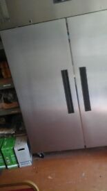 FREEZER LARGE TWO DOOR UPRIGHT STAINLESS STEEL